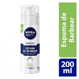 Espuma de Barbear Nivea Men Sensitive com 200ml