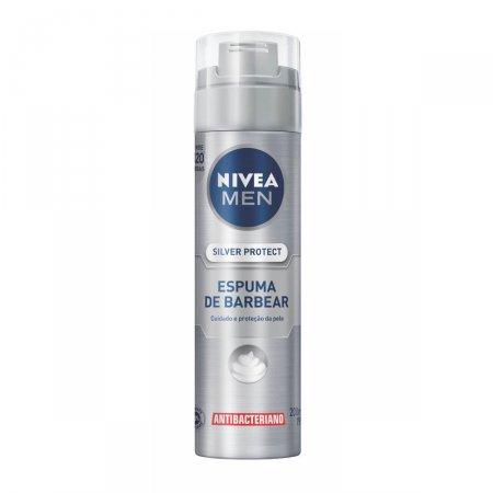 Espuma de Barbear Nivea Men Silver Protect 200ml | Drogasil.com Foto 1