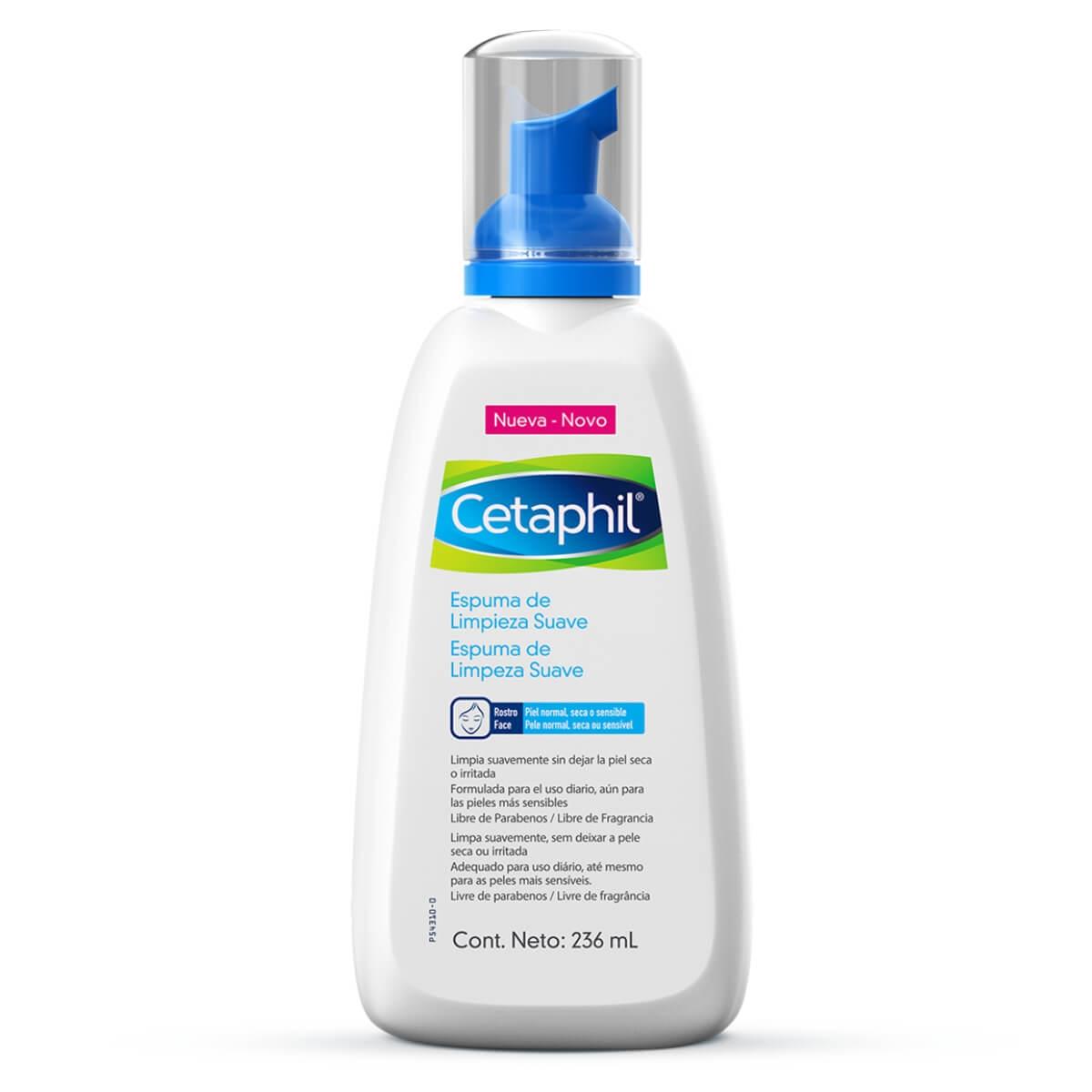 Espuma de Limpeza Facial Cetaphil Suave 236ml