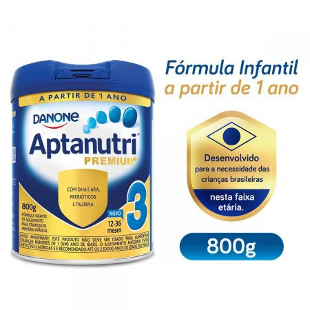 Fórmula Infantil Aptanutri Premium 3 800g | Drogasil.com Foto 3