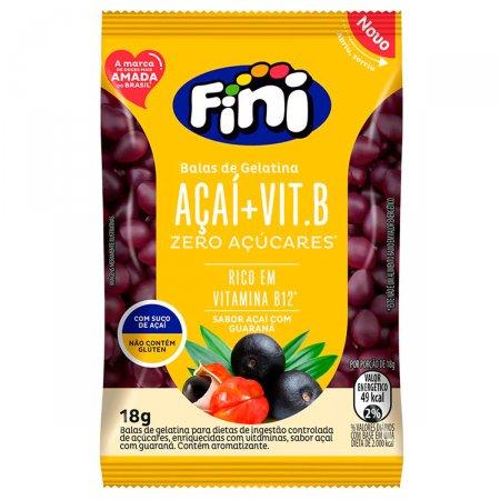 Bala de Gelatina Fini Açai + Vitamina B