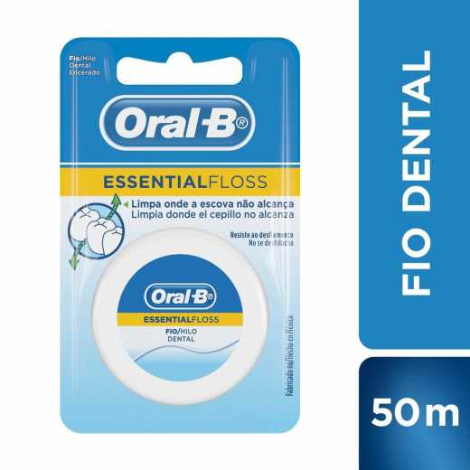 c8aaef530 Fio Dental Encerado Oral-B Essential Floss. 50 Metros