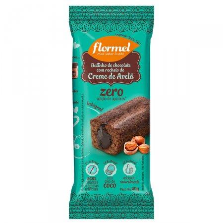 Bolinho Integral Flormel Chocolate Recheado com Avelã Zero
