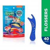 Flosser Infantil para Limpeza dos Dentes G.U.M Patrulha Canina com 40 unidades