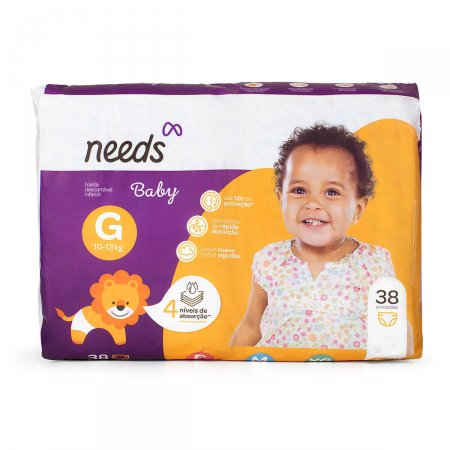 Fralda Descartável Needs Baby Tamanho G 38 Tiras |