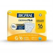 Fralda Descartável para Adulto Bigfral Derma Plus G com 16 unidades