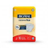 Fralda Descartável para Adulto Bigfral Derma Plus Juvenil com 10 unidades