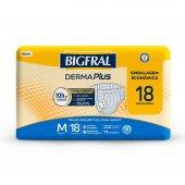 Fralda Descartável para Adulto Bigfral Derma Plus M com 18 unidades
