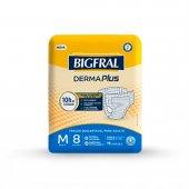 Fralda Descartável para Adulto Bigfral Derma Plus M com 8 unidades