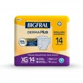 Fralda Descartável para Adulto Bigfral Derma Plus XG com 14 unidades