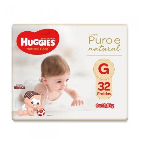 Fralda Huggies Natural Care Tamanho G