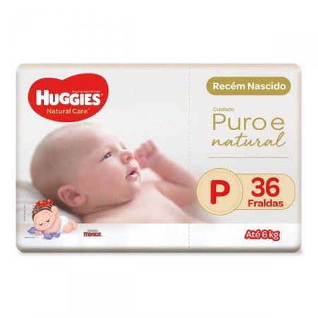 Fralda Huggies Natural Care Tamanho P