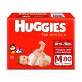 Fralda Huggies Supreme Care M com 80 unidades