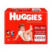 Fralda Huggies Supreme Care XXG com 52 unidades