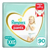 Fralda Pampers Premium Care Pants XXG com 90 Unidades