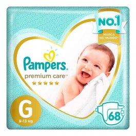 Fralda Pampers Premium Care G com 68 unidades
