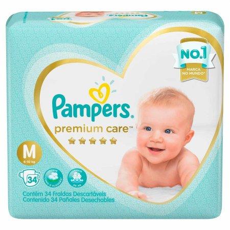 Fralda Pampers Premium Care Tamanho M com 34 Tiras | Drogasil.com Foto 1