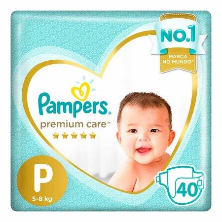 Fralda Pampers Premium Care P com 40 unidades