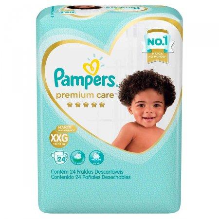 Fralda Pampers Premium Care Tamanho XXG com 24 Tiras | Drogasil.com Foto 1