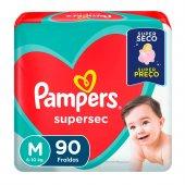 Fralda Pampers Supersec Tamanho M com 90 unidades