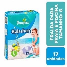 Fralda para Praia e Piscina Pampers Splashers G com 17 unidades