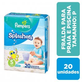Fralda para Praia e Piscina Pampers Splashers P com 20 unidades