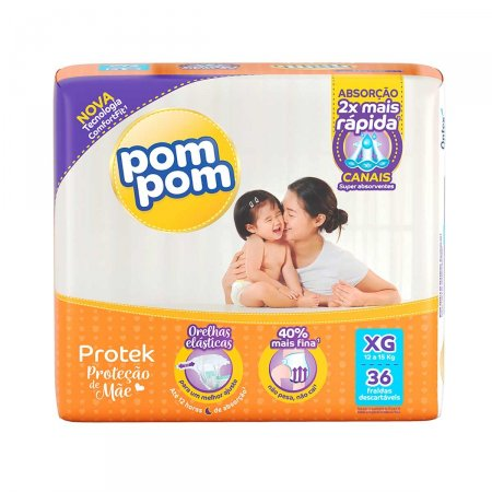 Fralda Pom Pom Protek Proteção de Mãe Tamanho XG
