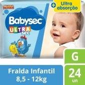 Fralda Babysec Galinha Pintadinha UltraSec Jumbo Tamanho G