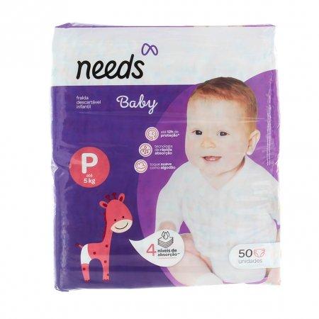 Fralda Descartável Needs Baby Tamanho P com 50 Tiras | Drogaraia.com Foto 1