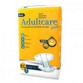 Fralda Geriátrica Adultcare Plus Extra Grande com 7 unidades