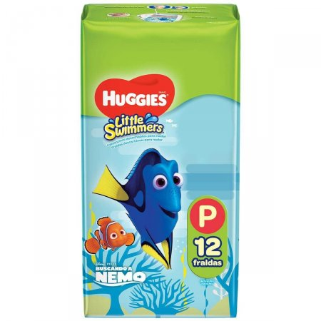 HUGGIES LITTLE SWIMMER FRALDA PARA PISCINA PEQUENO COM 12 TIRAS
