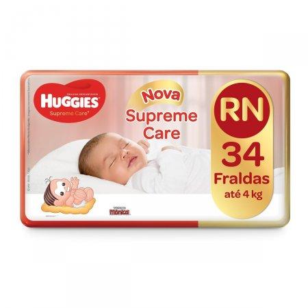 Fralda Huggies Supreme Care Recém Nascido 34 Unidades | Drogasil.com Foto 1