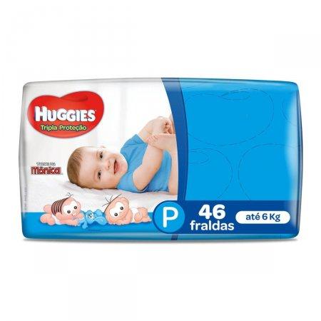 Fralda Huggies Tripla Proteção Tamanho P 46 Tiras | Drogasil.com Foto 1