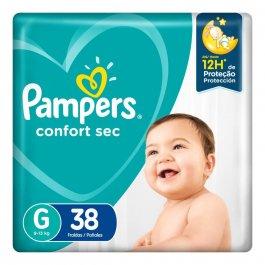 Fralda Pampers Confort Sec G com 38 unidades