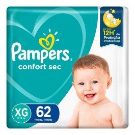 Fralda Pampers Confort Sec XG com 62 unidades