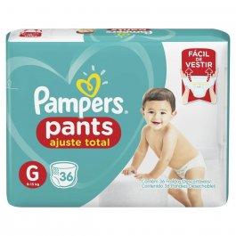 Fralda Pampers Pants Ajuste Total G com 36 unidades
