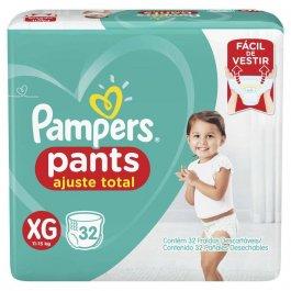 Fralda Pampers Pants Ajuste Total XG com 32 unidades