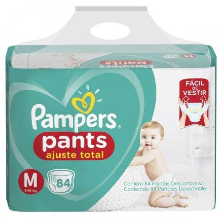 Fralda Pampers Pants Ajuste Total Tamanho M 84 Tiras | Drogasil.com Foto 1