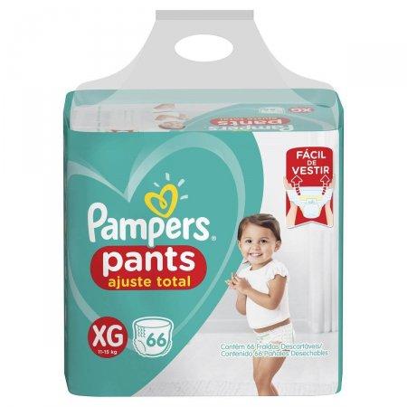 Fralda Pampers Pants Ajuste Total XG com 66 unidades