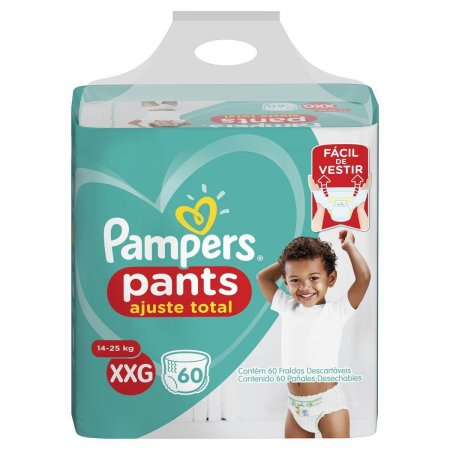 Fralda Pampers Pants Ajuste Total Tamanho XXG