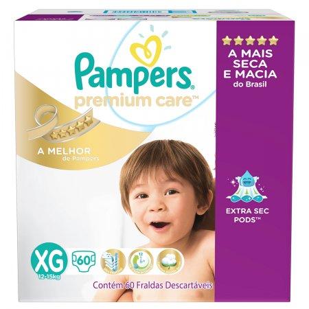 Fralda Pampers Premium Care Jumbo Tamanho XG