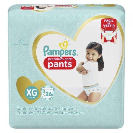 Fralda Pampers Pants Premium Care Tamanho XG 26 Tiras P&G   drogasil.com.br foto 1