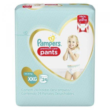 Fralda Pampers Pants Premium Care Tamanho XXG 24 Tiras P&G   drogasil.com.br foto 1