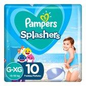 Fralda para Água Pampers Splashers Baby Shark Tamanho G-XG