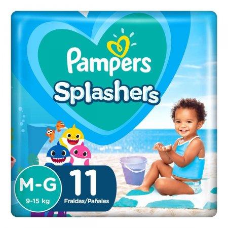 Fralda para Água Pampers Splashers Baby Shark Tamanho M-G