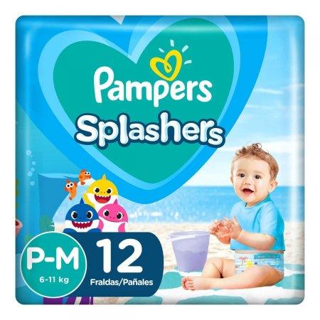 Fralda para Água Pampers Splashers Baby Shark Tamanho P-M