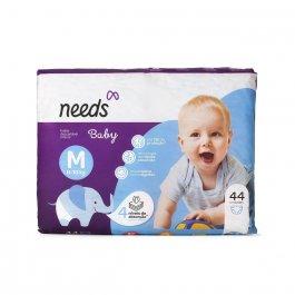 Fralda Descartável Needs Baby M com 44 unidades