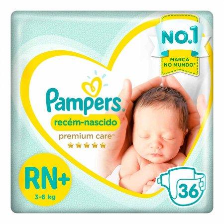 Fraldas Pampers Premium Care Recém Nascido RN+