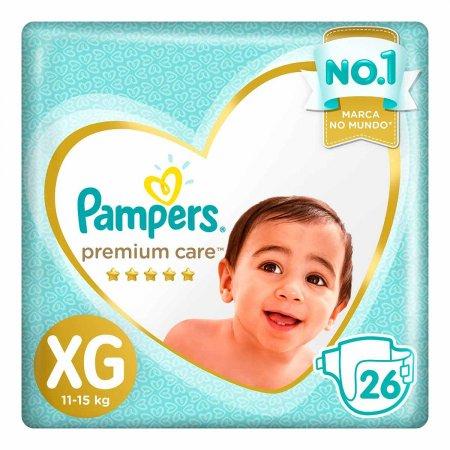 Fraldas Pampers Premium Care Tamanho XG
