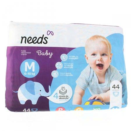 Fraldas Descartáveis Needs Baby Tamanho M